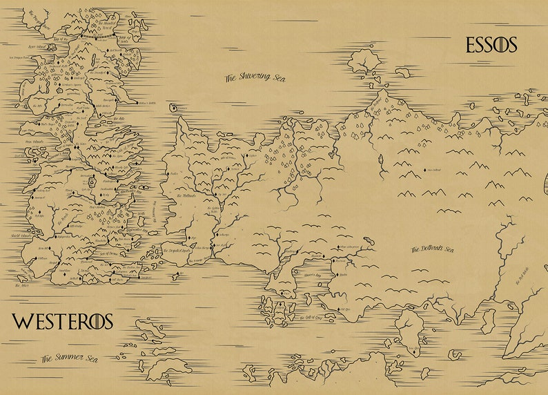 image about Printable Map of Westeros referred to as Map of Westeros and Essos