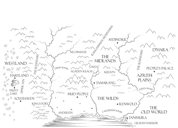 Map from the Sword of Truth Sword Of Truth Series Map on