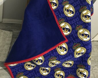 Real Madrid quilt and pillow.