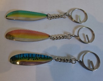 Fish Keyrings Choice of colours