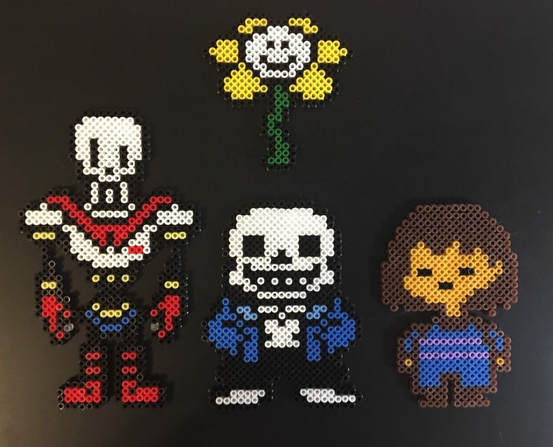Undertale Inspired Keychains Clips Magnets & Sprites Mini image 0