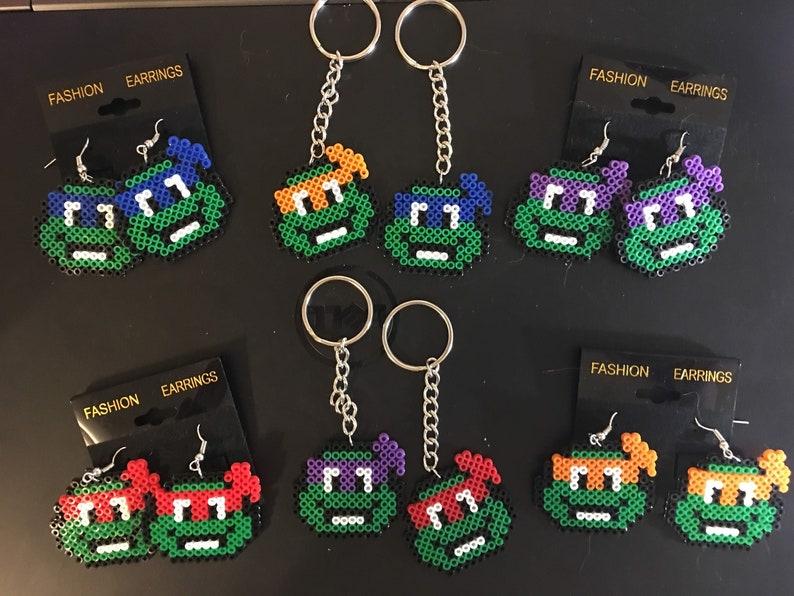 Teenage Mutant Ninja Turtles Inspired Keychains Earrings & image 1