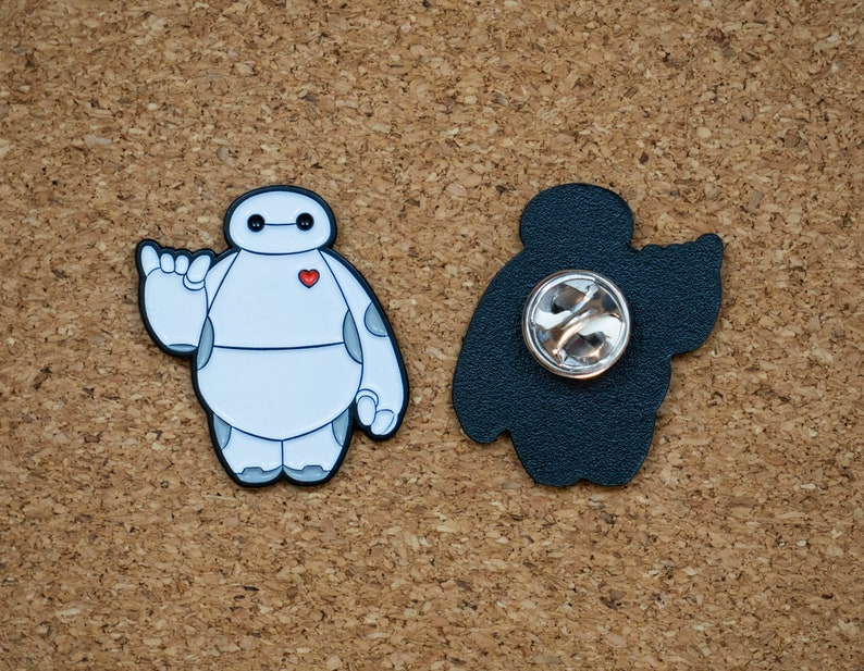 Baymax Fan Art Enamel Pin