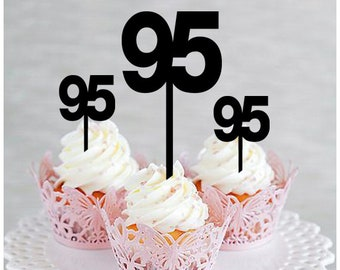 95th BirthdayAnniversaryPartyCake TopperCupcake Topper Birthday