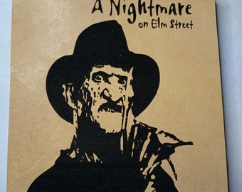 Freddy Krueger Nightmare Elm St Leather Coaster