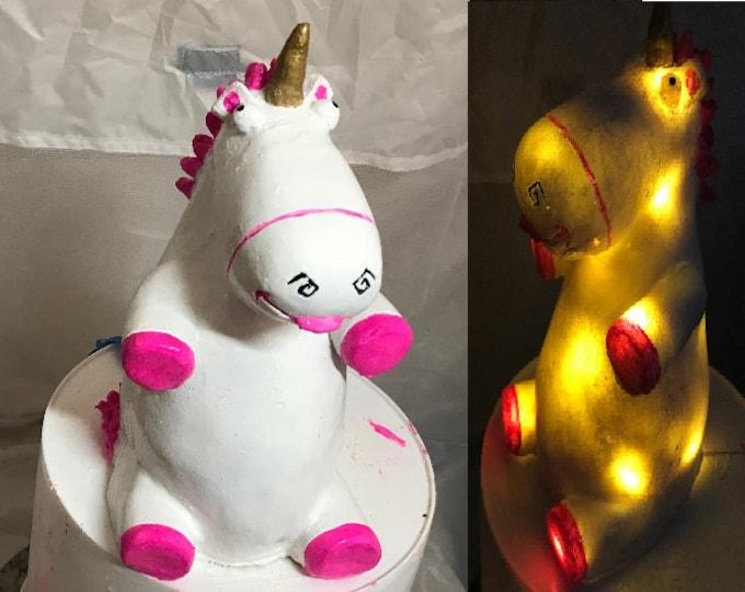 Fluffy Unicorn Despicable Me Minions Hand made Night Light