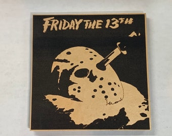 Jason Voorhees Friday the 13th thirteenth Leather Coaster