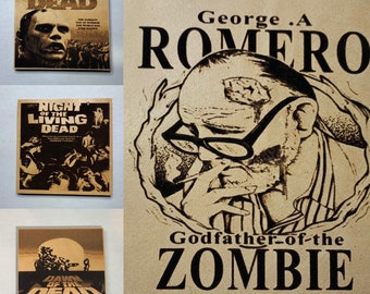 Romero Of the Dead Leather Coaster 4 Piece set