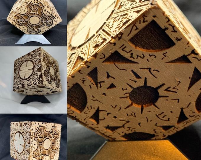 Hellraiser Puzzle Box Hellraiser Cube Laser Engraved Puzzle Box Cube