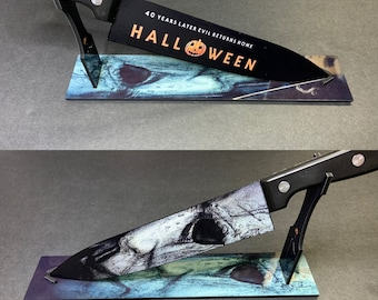 Michael Myers 2018 Kitchen Knife With/Without Sublimated Stand