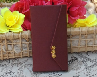 Wallet Case, beige sintetic leather personalized, Magnetic with Card Holder