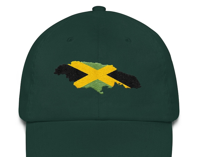 Featured listing image: Dad hat - Jamaican Flag in the Map