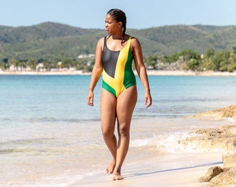 1-Piece Swimsuit - Jamaican Flag