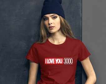 Women's short sleeve t-shirt - I Love You 3000