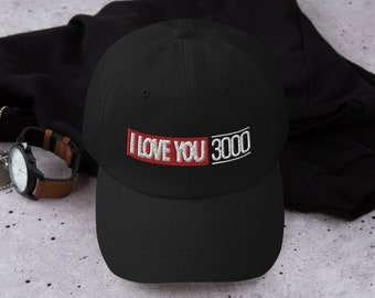 fe36fdae Unstructured Classic Dad Cap - I Love You 3000 | Gift Idea for Marvel's  Comic Book or Avengers: End Game Fan