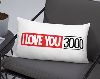 "Basic 20""x12""Pillow - I Love You 3000"