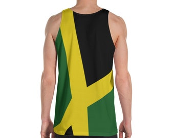 Unisex All-Over Print Tank Top - Jamaican Flag
