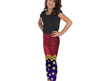 All-Over Print Kids Leggings - Wonder Woman