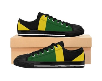 Women's Sneakers - Jamaican Flag