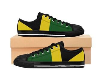 Women's Sneakers - Jamaican Flag