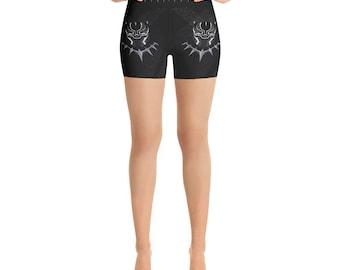 Yoga Shorts - Black Panther