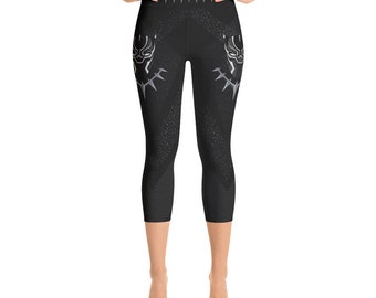 Yoga Capri Leggings - Black Panther
