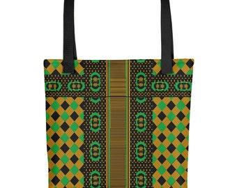 Tote bag - Jamaican Kente African Print