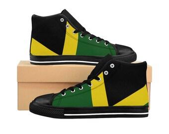 Men's High-top Sneakers - Jamaican Flag