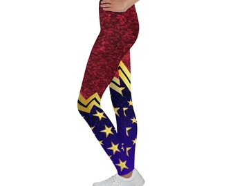 All-Over Print Youth Leggings - Wonder Woman