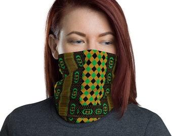 Neck Gaiter - Kente Print | Face Shield