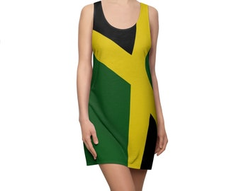 Women's Racerback Dress - Jamaican Flag
