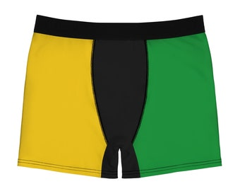 Men's Boxer Briefs - Jamaican Flag
