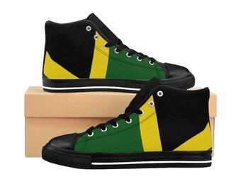 Women's High-top Sneakers - Jamaican Flag