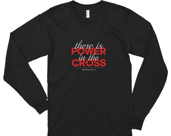 Long sleeve t-shirt (unisex) - Power in the Cross