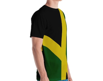 Men's All-Over Print T-shirt - Jamaican Flag
