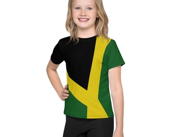 All Over Print Unisex Kids T-Shirt - Jamaican Flag