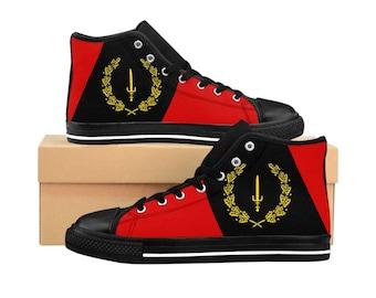 Black American Flag - Men's High-top Sneakers