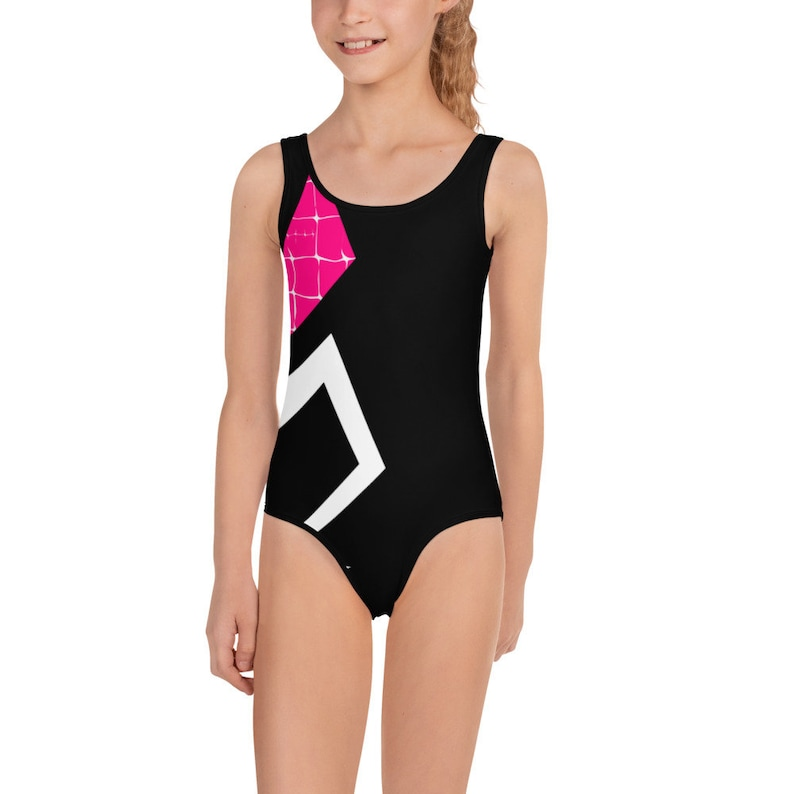 Spider Gwen All-Over Print Kids Swimsuit Gift Idea for a Comic Book Enthusiast