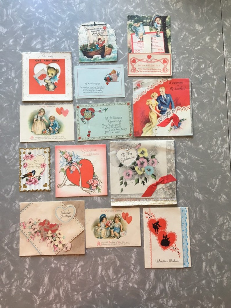 Cache of Valentines Day cards