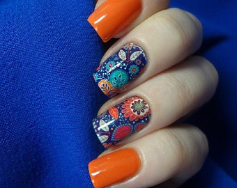 Nail Stickers - Water Nail Stickers - Nail Water Decals - Nail Print - Nail Art Decals - Nail Art - Nail Decals - OS-9018-37