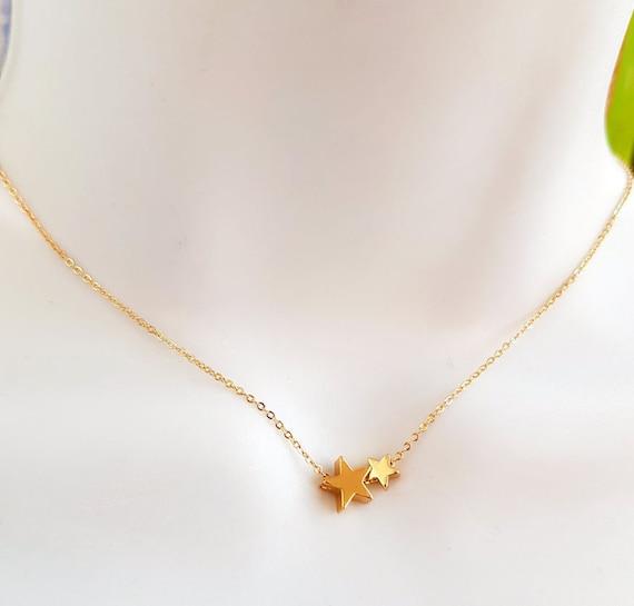 Cubic Zirconia Tiny Star Pendant \u2022 Real 18K Gold Dipped Brass \u2022 Tiny Minimal Bead \u2022 Jewelry Making Supplies \u2022 Pendants Bracelet AU019 2
