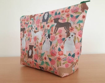 Staffordshire Bull Terrier Cosmetics Makeup and Toiletries Bag Set or Singles for Animal Lovers Perfect Gift Staffie Staffy SBT