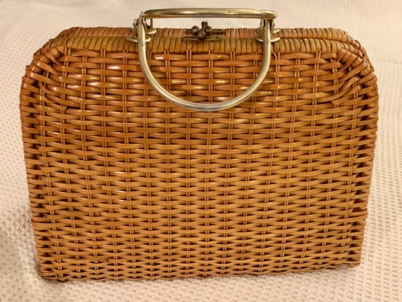 Vintage Wicker Bag 1940's/50's - UNIQUE