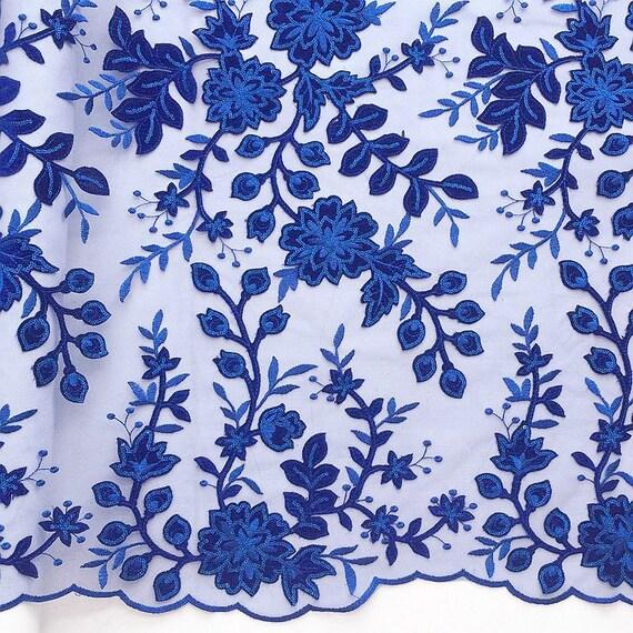 Luxe 3D africain velours dernière dentelle tissu Royal bleu dernière velours nigérian dentelle tissu 2018 haute qualité Sequin dentelle pour mariage a67bfe