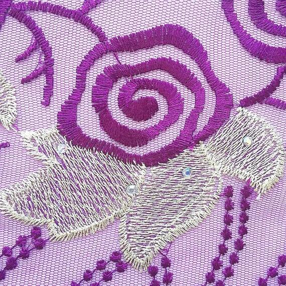 Magenta africain perles dentelle Tulle 2018 tissu 2018 Tulle Royal bleu pierres nigérian dentelle tissu 2018 matériaux de dentelle de haute qualité e70d56