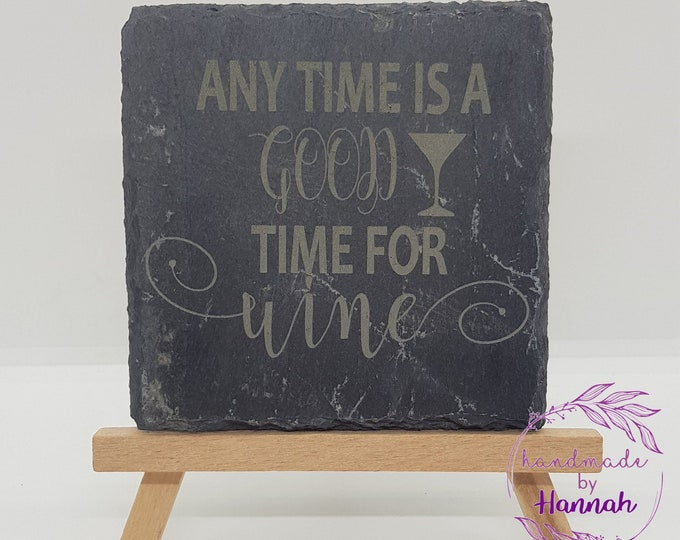 Wine Quotes Slate Coasters