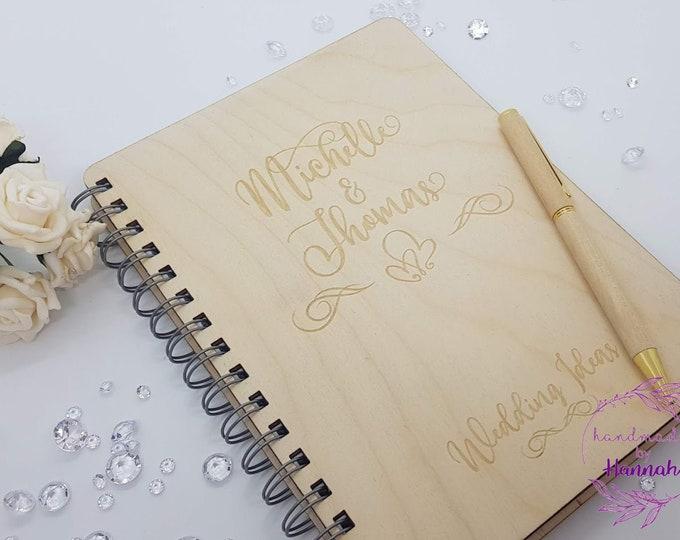 Personalised Wedding Notebook - Wedding Planning - Wedding Planner - Wedding Ideas
