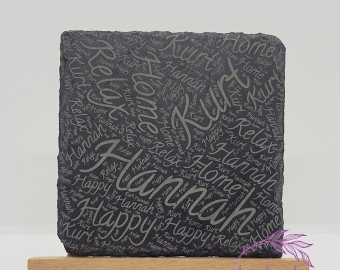 Personalised Slate Coasters - Add Your Names