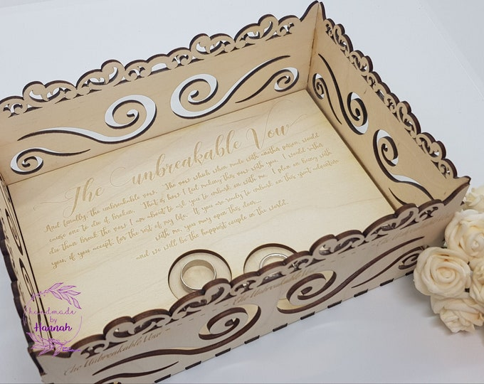 The Unbreakable Vow Wedding Ring Presentation Tray