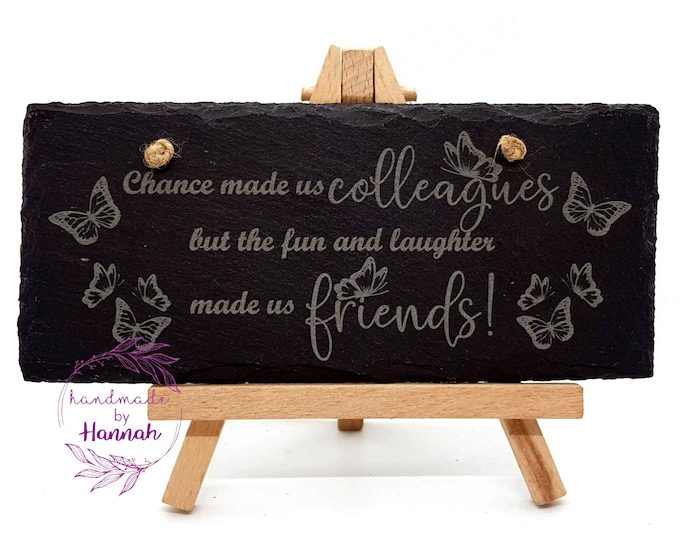 Leaving gifts Slate Plaque